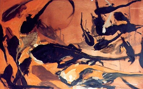 Acrylique sur toile - 2001 116 x 72 cm