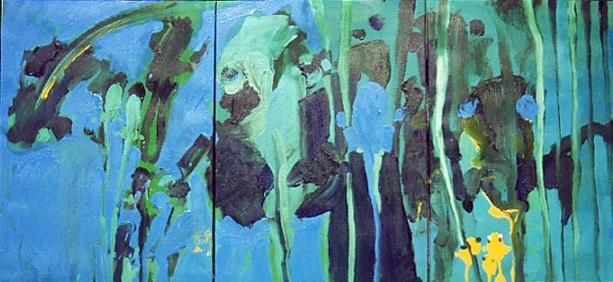 Acrylique sur toile - 2001 165 x 38 cm