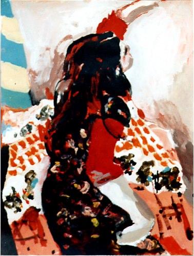 Ana II - Acrylique sur papier - 199939,2x29,9 cm