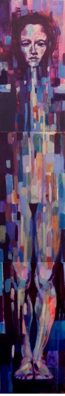 Acrylique sur bois - 2004 240 x 40 cm