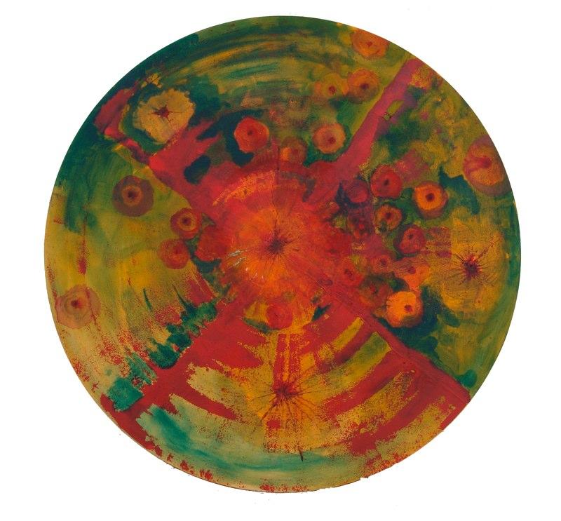 Acrylique sur toile - 2005 diamètre 100 cm